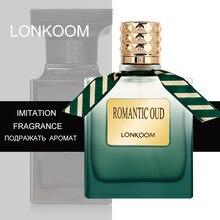 LONKOOM 100ml OUD ahşap erkek Eau De Toilette orijinal erkekler için parfüm antiperspiranlar EDT bayan parfüm parfüm erkek parfüm