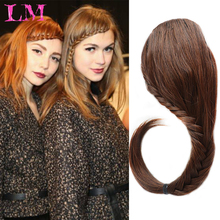 Hair-Extensions Braids-Fringe False-Hair Plaited Bangs Clip-In Front Natural Synthetic