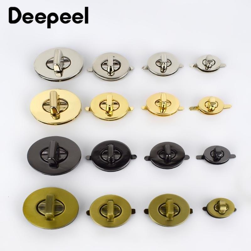 Deepeel2sets Metal Twist Locks For Bag Handbag Closure Lock Snaps Purse Clasp Buckles Handmade Bag Accessories DIY Leather Craft