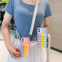 Pop funda de teléfono para Xiaomi Redmi Note 10, 10S, 10T, 9, 9S, 9T, 8, 8T, 7, 6, 5 Pro, Max, 5A, 4, 4X, BILLETERA, juguetes, funda de empuje