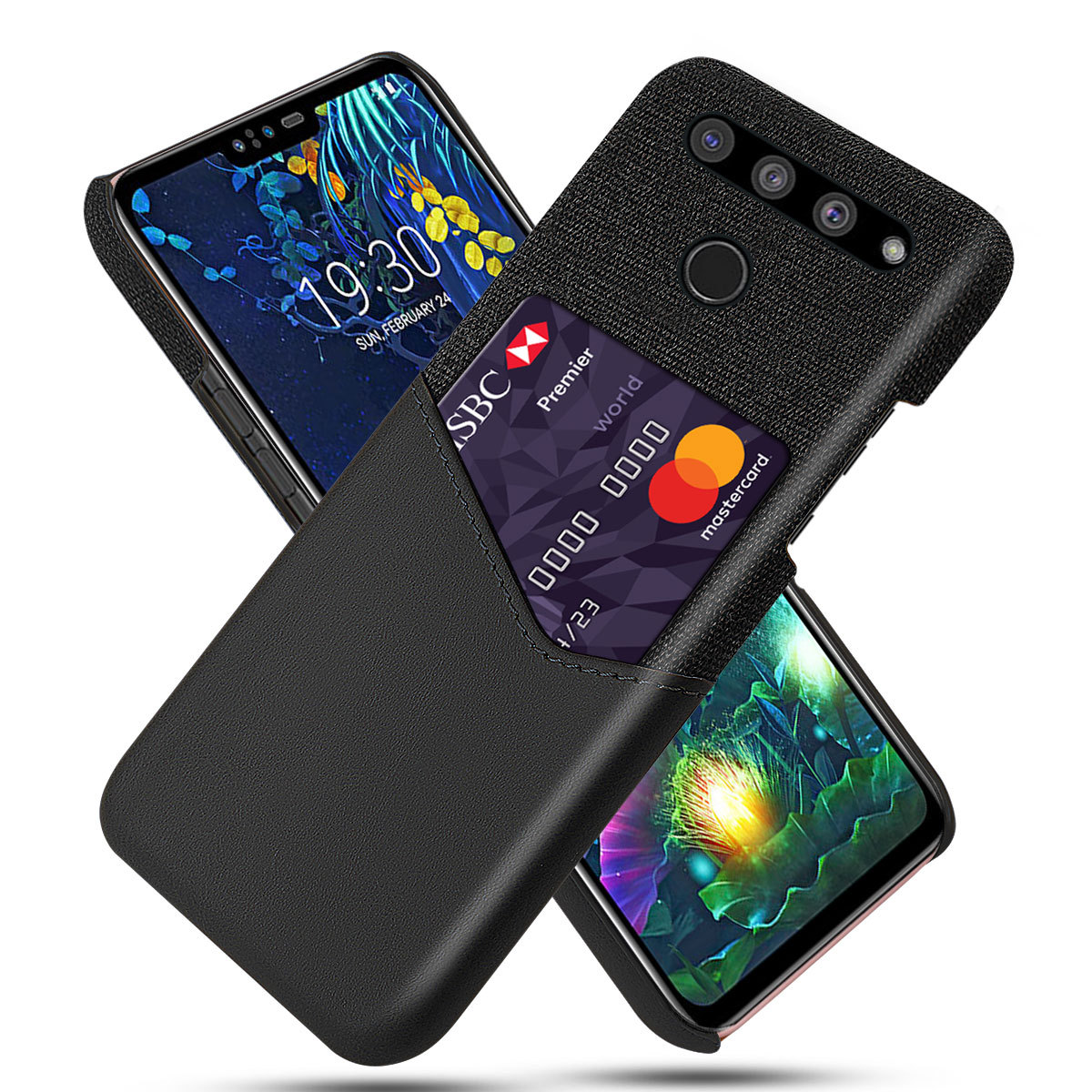 DCK Leather Hard Cloth With <font><b>Card</b></font> Protective Phone <font><b>Cases</b></font> for <font><b>LG</b></font> V50 ThinQ V40 <font><b>V30</b></font> V20 V10 Slim Hybrid Hard Platic Phone Cover image