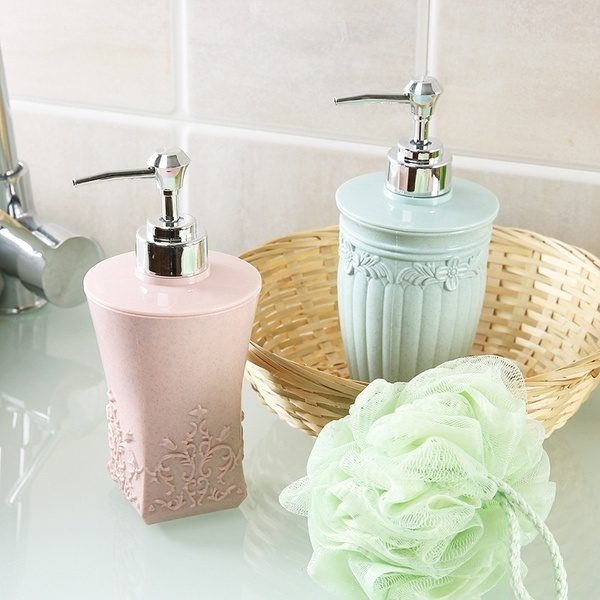European Style  Kitchen Bathroom Accessories Carving Soap And Lotion Dispenser  Hand Lotion And Essential Oils Bottle