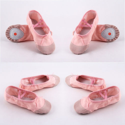Size 22-30 Little Girls Pink Ballet Dance Yoga Gymnastics Shoes Split-Sole Cotton Kids shoes Cute Soft Slipper