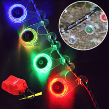 1pcs Silicone Cycling Lights Waterproof Taillights Safety Warning Bicycle Flash Bicycle Tail Bicycle Accessories Light cheap LED Bulbs Wheel Spokes Battery camping equipment outdoor accessories Outdoor Equipment Camping Climbing Multifunction Outdoor Tools