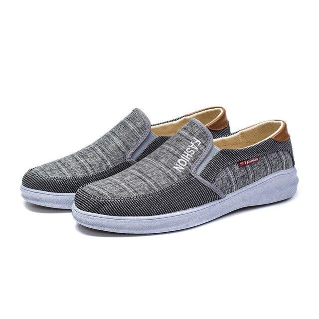 BJYL New canvas fashion sneakers men's casual belt light shoes comfortable breathable walking shoes Zapatillas Hombre M1317 4