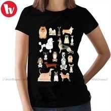 Women Tshirt Chow Chow Street-Wear Dogs Ladies Tee Print Short-Sleeve Cotton XXL