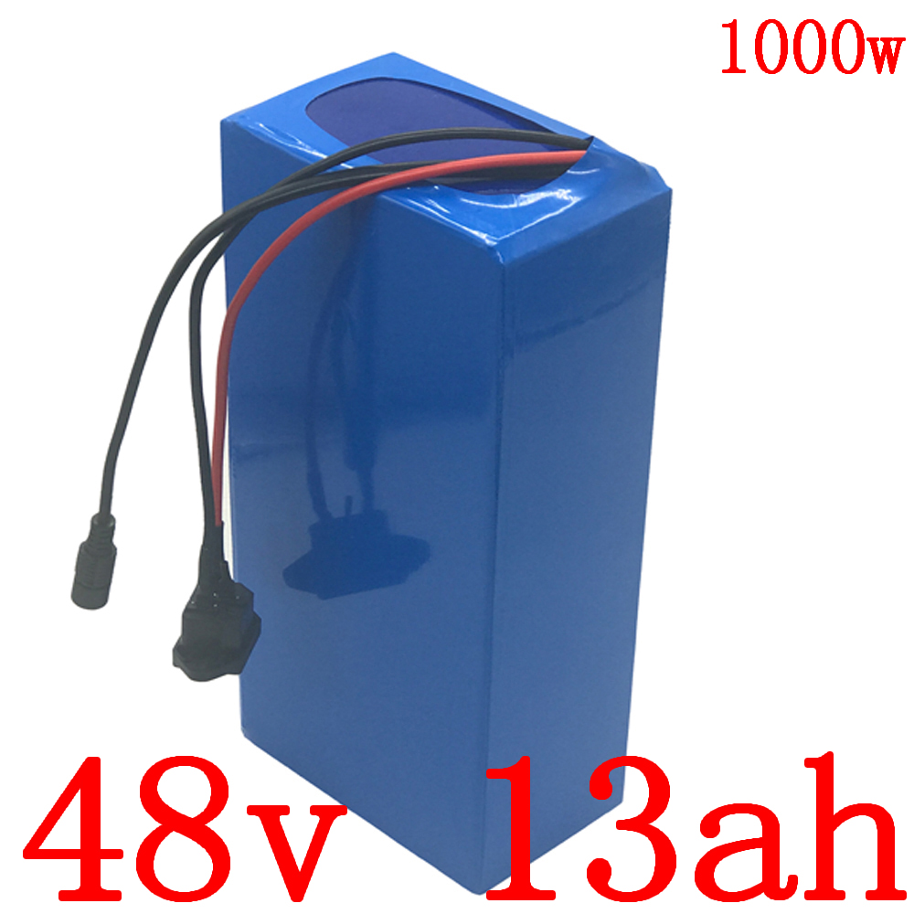 <font><b>48V</b></font> <font><b>1000W</b></font> <font><b>battery</b></font> pack <font><b>48v</b></font> 10ah 13ah 15ah electric bike <font><b>battery</b></font> <font><b>48v</b></font> 13ah lithium ion <font><b>battery</b></font> with 30A BMS and 54.6V 2A charger image
