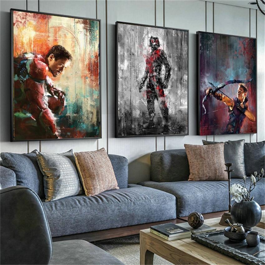 Marvel Hulkbuster vs Hulk Comics Silk Poster 13x18 32x43 inch