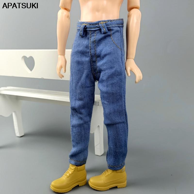 "Handmade doll clothes light grey sweater for 12/"" Ken dolls"