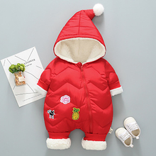 Newborn Infant Romper Autumn Winter Baby Jumpsuit Thick Warm Hooded Toddler Baby Girl Boy Clothes For Baby Romper baby rompers fleece animal baby winter clothes hooded thick warm baby girl romper toddler baby boy jumpsuit infant baby snowsuit