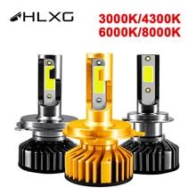 HLXG новое мини H4 canbus H7 светодиодный фар автомобиля Комплект 4300 К 8000 10000LM H1 H3 H11 9005 HB3 9006 HB4 H8 6000 К лампочки Автомобильные аксессуары