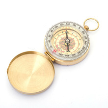 Pure copper clamshell compass with luminous pocket watch compass portable outdoor multifunction compass kanpas basic competiton orienteering thumb compass free ship ma 40 fs from compass factory