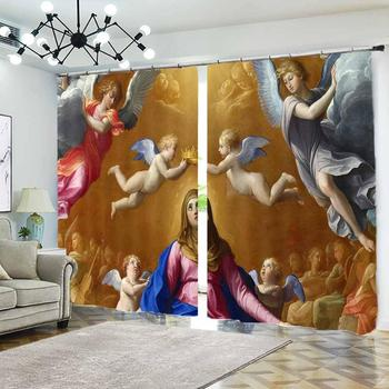 Customize Modern Curtains For Bedroom Living Room angel Window Blackout Curtain European style New Decoration