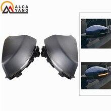 цена на 2pcs For Volkswagen VW Polo MK5 6R 6C 2009 -2017 Dynamic Turn Signal LED Side Rearview Mirror Indicator Blinker Repeater Light