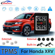 цена на Smart Car TPMS Tire Pressure Monitor System For Honda XRV XR-V with 4 sensors Wireless Alarm Systems LCD Display TPMS Monitor