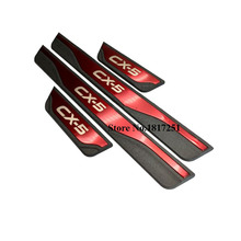 For Auto Mazda CX 5 CX5 2013 2015 2017 2018 2019 2020 Car Door sill Strip Accessories Trim Cover Welcome Pedal Protection