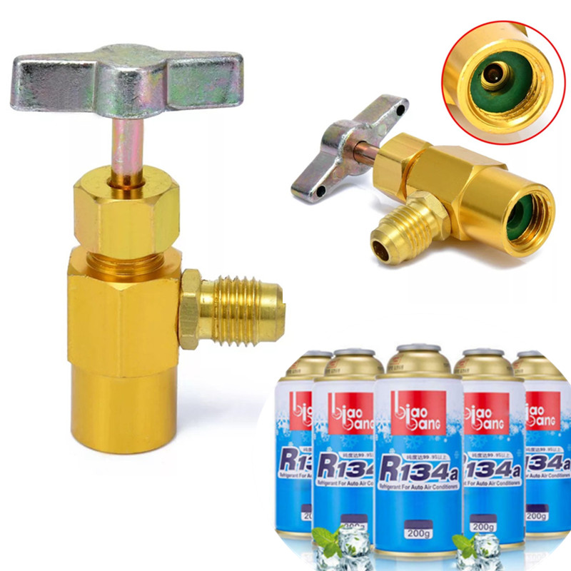 r134a Refrigerant Brass Tap Can Dispensing Valve Bottle Opener 1/2