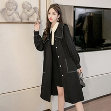 Make dear love blueberries in same college French render dress fashion wind long coat