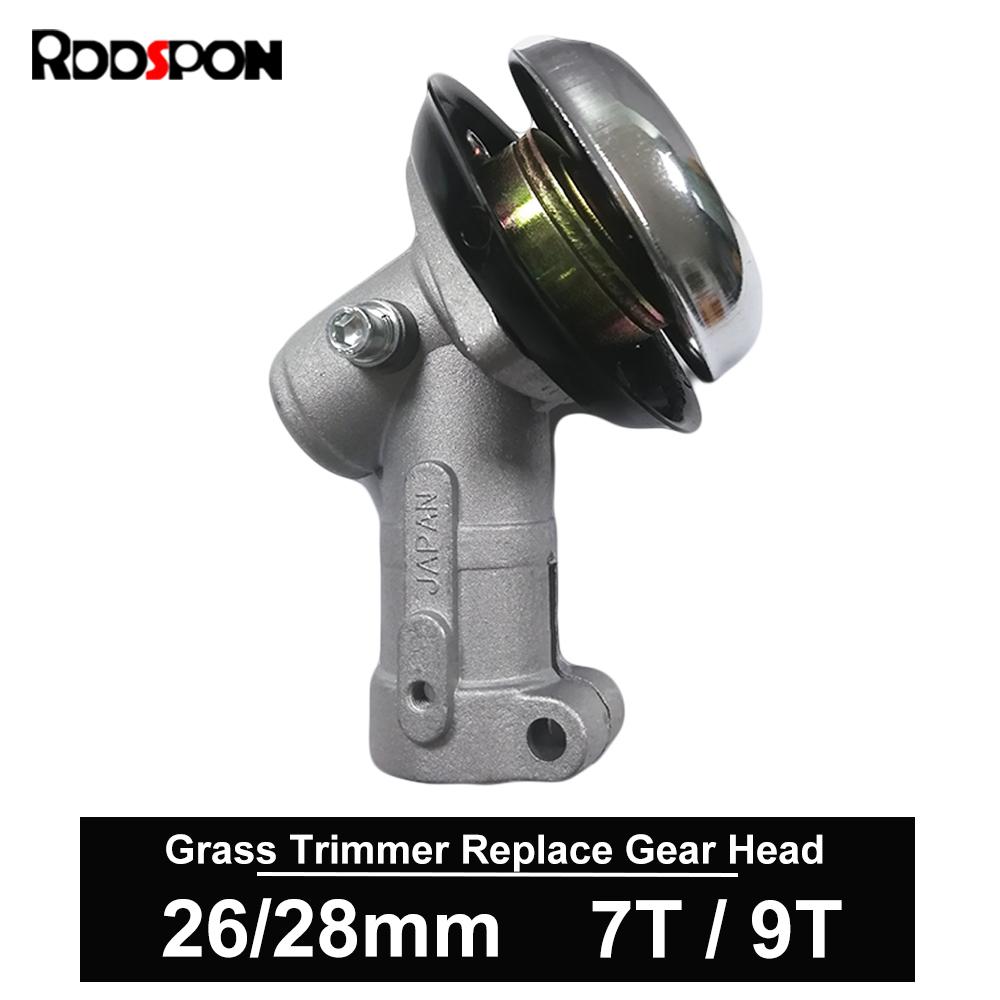 7 9 Teeth Trimmer Gearbox Gearhead 26mm 28mm Brushcutter Grass Trimmer Replace Gear Head Lawn Mower Parts Garden Power Tools