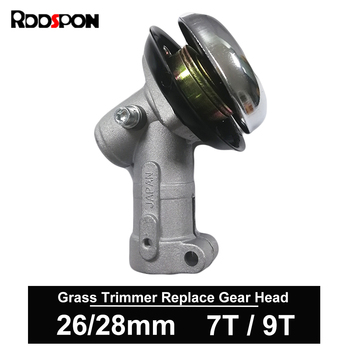 цена на 7 9 Teeth Trimmer Gearbox Gearhead 26mm 28mm Brushcutter Grass Trimmer Replace Gear Head Lawn Mower Parts Garden Power Tools