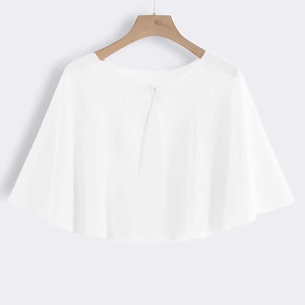 สตรีสุภาพสตรีชีฟองผ้าคลุมไหล่งานแต่งงานเสื้อ Wraps SLIK Shrug เจ้าสาวผ้าพันคอยาวผ้าคลุมไหล่และ Wraps ชุดราตรีงานแต่งงาน COVER UP