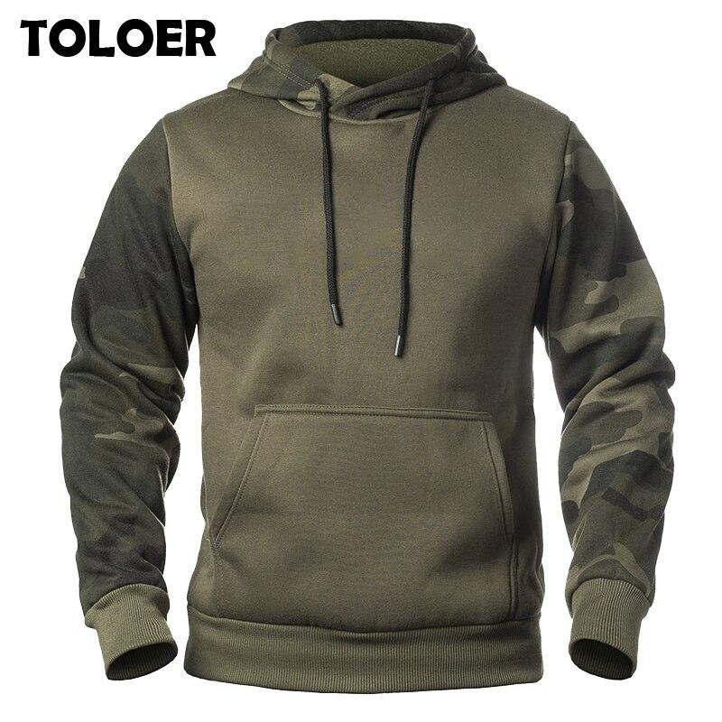 Men''s Camouflage Hoodies 2020 Fashion Sweatshirt Men Winter Patchwork Camo Hoody  Hip Hop Street Hoodie Casual Military Pullover