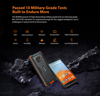Blackview BV4900 Mobile IP68 Waterproof Smartphone 5.7 inch Screen 3GB RAM 32GB ROM Android 10 Rugged Cellphone NFC OTG 5580mAh 3