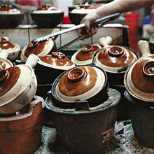 Clay Cooking-Casserole Traditional Chinese-Style Stewpan-Pan Earthen Porridge-Pot Soup-Rice