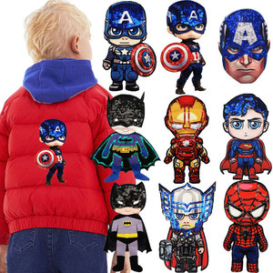 Cartoon Avengers Fabric patches Garment Accessory boy heros embroidery Sewing patch DIY Garment Decoration Sequins Cloth sticker(China)