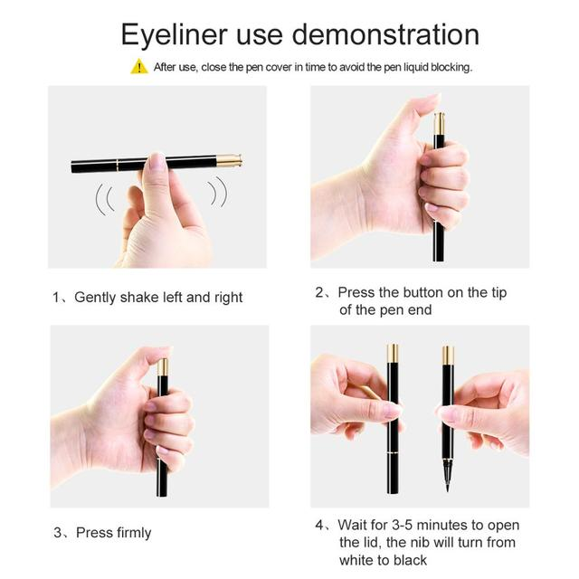 3 Pairs Magic False Eyelash Self-adhesive Lashes Eyeliner Mascara Eyelash Curler Set No Glue No Magnet Eyelash For Dropshipping 5