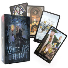 witch mysterious Tarot deck Oracle Cards game Divination fate Deck Board Game For home party Women gifts toys pdf rules