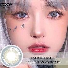 Lentes de contato da cor da série de taylor azul verde cinza violeta colorido olho lente de contato cor olhos contatos cosméticos contato lense