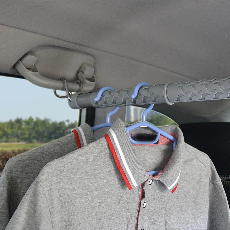2X PVC Air Clothes Hanger Rack Portable Folding Non-Slip Coat Hangers White 2pcs