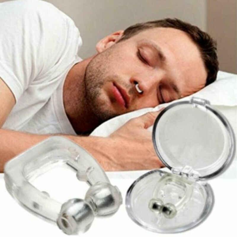 Silicone magnétique Anti ronflement nez Clips respiration arrêt ronflement apnée Anti-ronflement dispositif sommeil Anti Schnarchen Nase pince