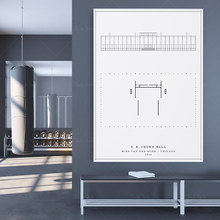 S. R. Crown Halle   Mies Van der rohe   Digital Download Architektur Drucken-Architektur Druckbare Zeichnung