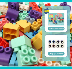Image 5 - התאגרף תינוק צעצוע 3D רך פלסטיק אבני בניין תואם מגע יד נשכן בלוקים DIY גומי בלוק צעצוע לילדים מתנה
