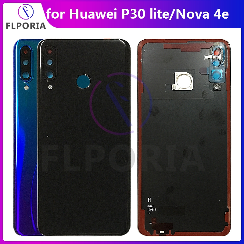 Original for <font><b>Huawei</b></font> <font><b>P30</b></font> lite P30lite <font><b>Battery</b></font> Housing <font><b>Battery</b></font> Door Back <font><b>Cover</b></font> for Nova 4e MAR-LX1M MAR-LX1A Housing Replacement image
