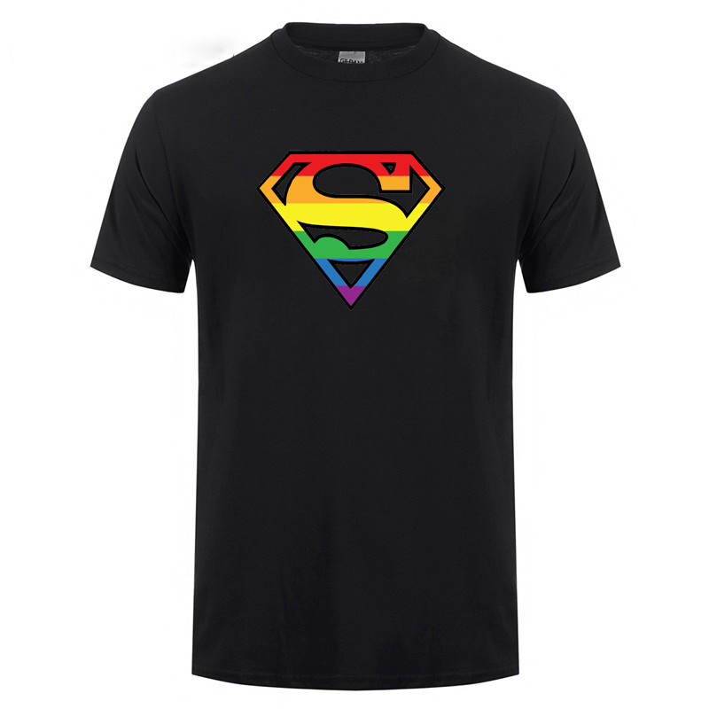 Super Gay Pride Gift <font><b>T</b></font>-<font><b>Shirt</b></font> Men Male Lesbian Homosexual <font><b>Bisexuals</b></font> Short Sleeve O Neck Cotton Casual Harajuku <font><b>T</b></font> <font><b>Shirt</b></font> Tshirt image