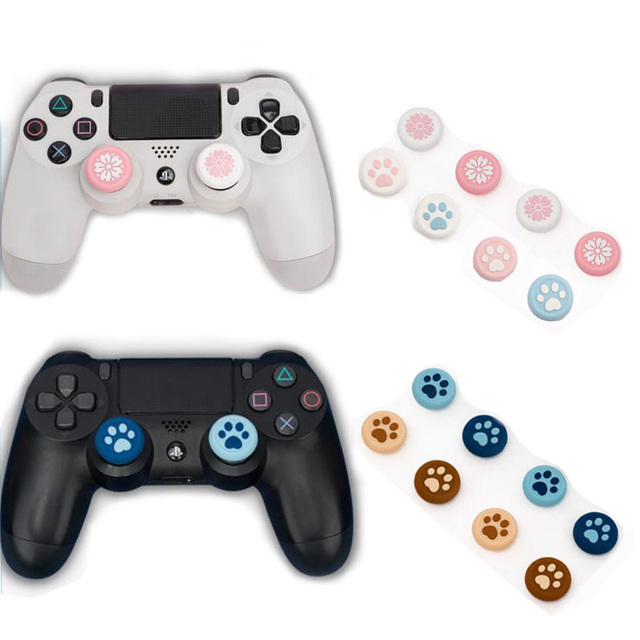 Cat Paw Sakura Joystick Cover Thumb Stick Grip Cap For Sony Playstation Dualshock 4/3 PS4/PS3/Xbox 360/Switch Pro Controller