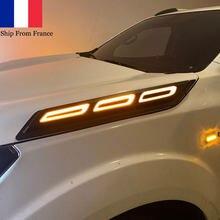 Side Bonnet lights Daylight Running Lights For NISSAN NAVARA NP300 FRONTIER 2015 2016 2017 2018 2019 2020 2021