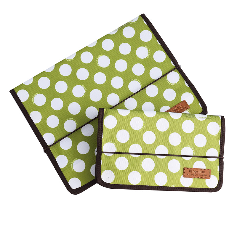 Cute Portable Expandable Accordion 12 Pockets A4 /A5 File Folder Oxford Expanding Document Briefcase