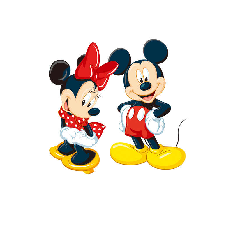 1pcs Vinyl Thermische Stickers Badges Mickey Minnie Cartoon Vinyl Afdrukken Op Kinderkleding Warmteoverdracht Patch