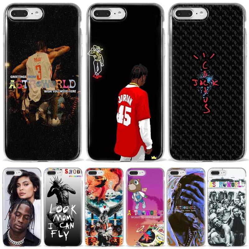 Travis Scott Huncho Jack ASTROWORLD TOUR Sicko 모드 소프트 폰 케이스 iPhone X SE 5S 6 6S 7 8 Plus XR XS MAX 11 Pro Max Coque