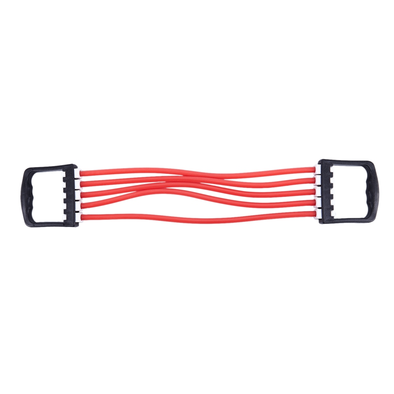 Red Portable Indoor Sports Supply Chest Expander Puller Exercise Fitness Resistance Elastic Cable Rope Tube Yoga 5 Resistance Ba