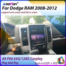Tesla Vertikale Screeen GPS Navi PX6 Auto Radio Für Dodge RAM Truck 2008-2012 Auto Multimedia-Player Unterstützt Carplay 2/3 sitze