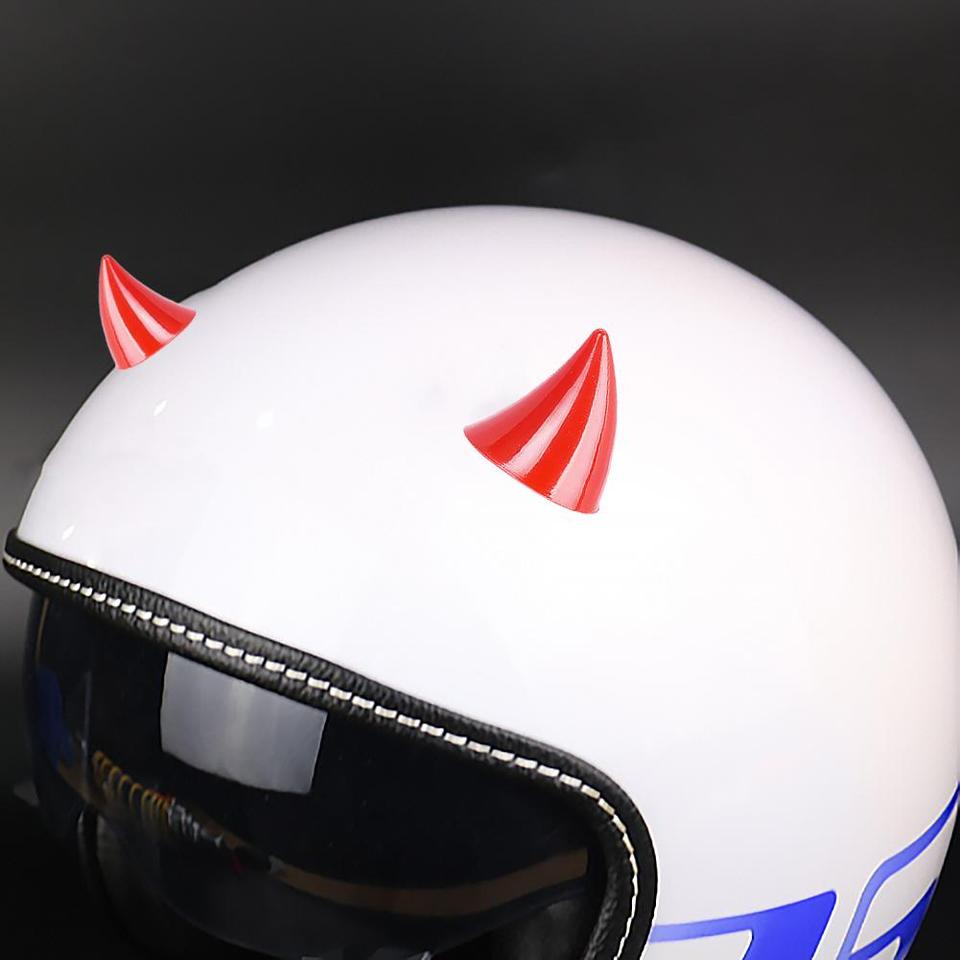 1 Pair Motorcycle Helmet Corner Silicone/Horn Headwear Plastic Rubber Horn Decoration Accessories Soft Horn