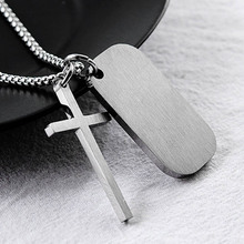 New Jesus Bible Necklace Dog Tag Pendant Cross Christian Stainless Steel Necklaces for Men Prayer Religious Male Jewelry Gifts new fashion pray without ceasing bible verse christian necklace cabochon pendant inspirational jewelry women men faith gifts