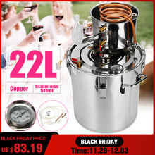 20L Distiller Moonshine Alcohol Stainless Copper DIY Home Water Wine Essential Oil Brewing Kit(China)