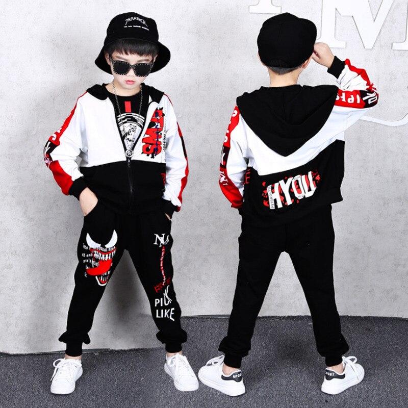 Image 3 - Spring Kids Boys Clothing Set Spring Autumn Kids Clothes Set 4 6 8 10 12 13 14 Years Boys Sports Suit Fashion Children ClothingClothing Sets   -