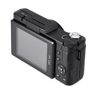 Image 2 - 24MP 풀 HD 1080P 4 배 디지털 줌 카메라 180 학위 회전 스크린 카메라 비디오 Vlog 카메라 캠코더